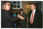 Stephen Daltry and Peter Mandelson. Chelsea. London 2000. © Copyright Photograph by Dafydd Jones 66 Stockwell Park Rd. London SW9 0DA Tel 020 7733 0108 www.dafjones.com