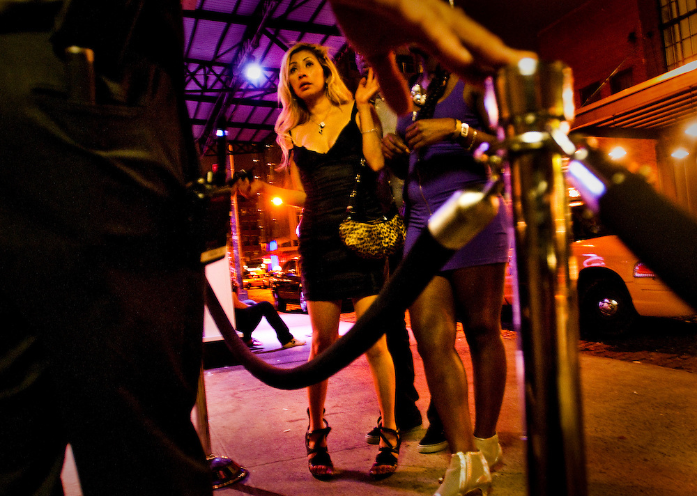 People at the nightclub RDV in Manhattan's Meatpacking District...Photographer: Chris Maluszynski /MOMENT