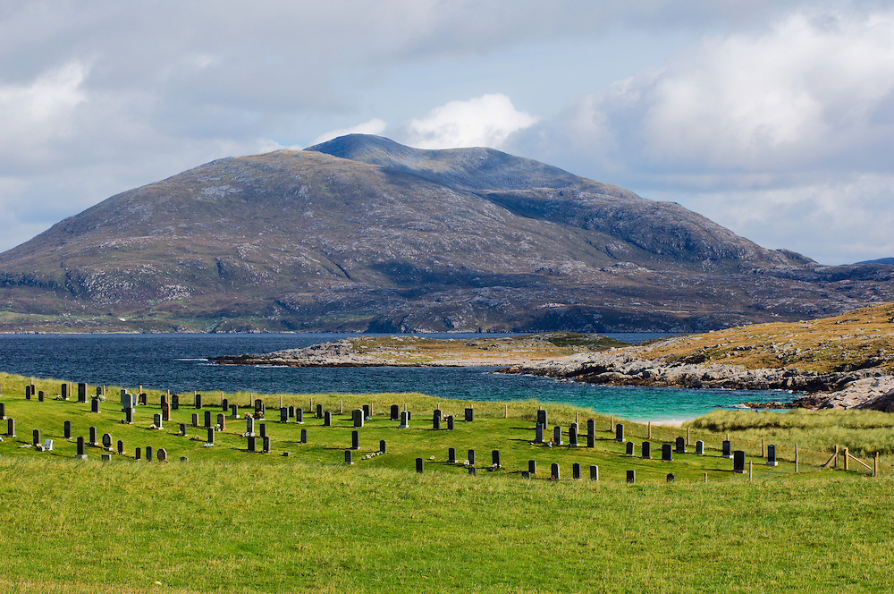 Cemetery at Luskentyre, Taransay in background