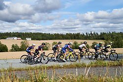 The peloton head into the farm land during Ladies Tour of Norway 2019 - Stage 3, a 125 km road race from Moss to Halden, Norway on August 24, 2019. Photo by Sean Robinson/velofocus.com