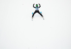 Ursa Bogataj of Slovenia celebrates during 1st Round at Day 1 of World Cup Ski Jumping Ladies Ljubno 2019, on February 8, 2019 in Ljubno ob Savinji, Slovenia. Photo by Matic Ritonja / Sportida