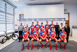 Team photo during press conference of KK Adria Mobil Cycling Club before new season 2018, on February 22, 2018 in Novo mesto, Slovenia. Photo by Vid Ponikvar / Sportida