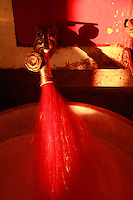 at Domaine du Vissoux, Beaujolais.Domaine du Vissoux, Beaujolais.fermenting grape juice being tested for sugar and alcohol content...September 14, 2007..Photo by Owen Franken for the NY Times.