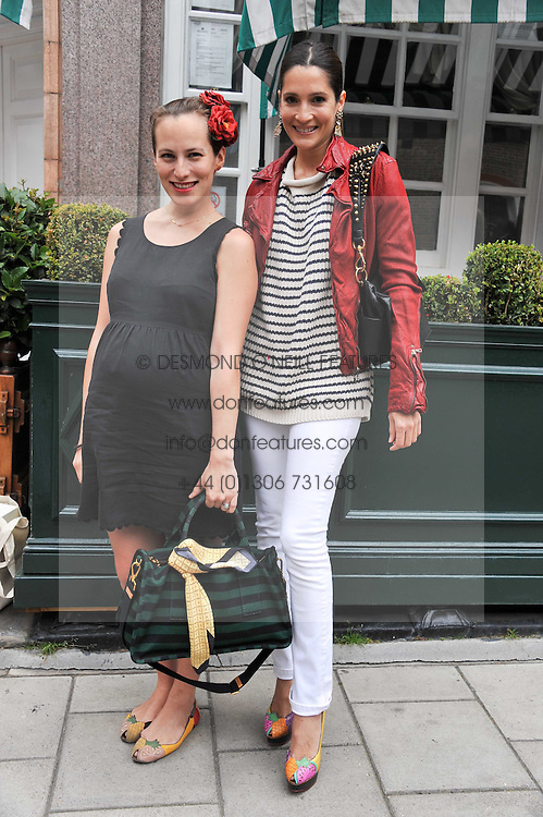 Left to right, CHARLOTTE DELLAL and ASTRID MUNOZ at a lunch to celebrate the the Lulu & Co Autumn/Winter 2011 collection held at Harry's Bar, 26 South Audley Street, London W1 on 21st June 2011.