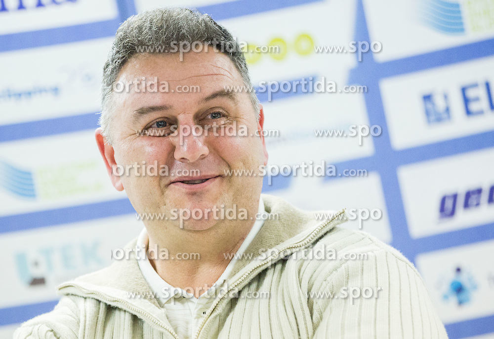 Vladimir Kevo during press conference when Slovenian athletes and their coaches sign contracts with Athletic federation of Slovenia for year 2016, on February 25, 2016 in AZS, Ljubljana, Slovenia. Photo by Vid Ponikvar / Sportida