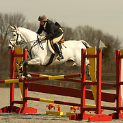 Gayle Molander (USA) and Lizzy at the Morven Park Spring Horse Trials held in Leesburg, Virginia