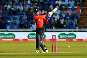 Alex Hales of England gets off the mark during the International T20 match between England and India at the SWALEC Stadium, Cardiff, United Kingdom on 6 July 2018. Picture by Graham Hunt.