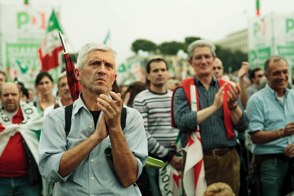 PD, prima manifestazione nazionale. 25 ottobre 2008, Roma.