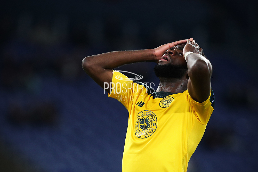 Odsonne Edouard of Celtic reacts during the UEFA Europa League, Group E football match between SS Lazio and Celtic FC on November 7, 2019 at Stadio Olimpico in Rome, Italy - Photo Federico Proietti / ProSportsImages / DPPI