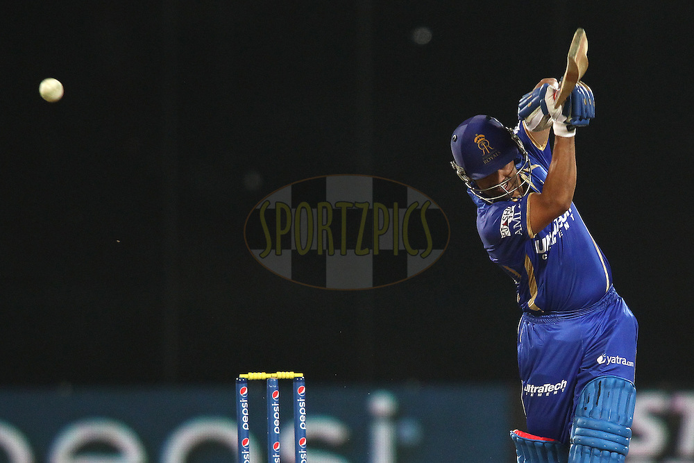 Karun Nair of the Rajasthan Royals hits over the top during match 23 of the Pepsi Indian Premier League Season 2014 between the Delhi Daredevils and the Rajasthan Royals held at the Feroze Shah Kotla cricket stadium, Delhi, India on the 3rd May  2014<br /> <br /> Photo by Shaun Roy / IPL / SPORTZPICS<br /> <br /> <br /> <br /> Image use subject to terms and conditions which can be found here:  http://sportzpics.photoshelter.com/gallery/Pepsi-IPL-Image-terms-and-conditions/G00004VW1IVJ.gB0/C0000TScjhBM6ikg