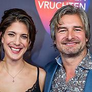 NLD/Amsterdam/20170324 - Boekenbal 2017, Victor Reinier en partner Aimee Kiene