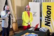 Lochow, Poland - 2018 October 05: Photographer Adam Nurkiewicz speaks while meeting with photo fans during Photo Festival Optyczne at Palace Lochow on October 05, 2018 in Lochow, Poland.<br /> <br /> Mandatory credit:<br /> Photo by © Adam Nocon<br /> <br /> Adam Nocon declares that he has no rights to the image of people at the photographs of his authorship.<br /> <br /> Picture also available in RAW (NEF) or TIFF format on special request.<br /> <br /> Any editorial, commercial or promotional use requires written permission from the author of image.