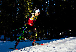 FOURCADE Martin (FRA) competes during Men 10 km Sprint at day 2 of IBU Biathlon World Cup 2014/2015 Pokljuka, on December 19, 2014 in Rudno polje, Pokljuka, Slovenia. Photo by Vid Ponikvar / Sportida