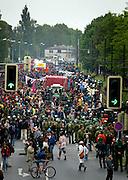 """Rostock   June 4, 2007 ..Protest gegen den G8-Gipfel Heiligendamm, Tag 3: Am """"Migrationstag"""" findet in Rostock eine Demonstration gegen Abschiebung und Rassismus und f?r das Bleiberecht aller Menschen mit mehr als 8000 Demonstranten statt. Hier: +bersicht ?ber den Demonstrationszug...Protests against the G8-Summit Heiligendamm, Day 3: More than 8000 people take part in a demonstration in the german city of Rostock to stand up for the right of free movement and against racist asylum law. Here: Overview over the demonstration march...20070604g8 ...[Inhaltsveraendernde Manipulation des Fotos nur nach ausdruecklicher Genehmigung des Fotografen. Vereinbarungen ueber Abtretung von Persoenlichkeitsrechten/Model Release der abgebildeten Person/Personen liegen nicht vor.]"""