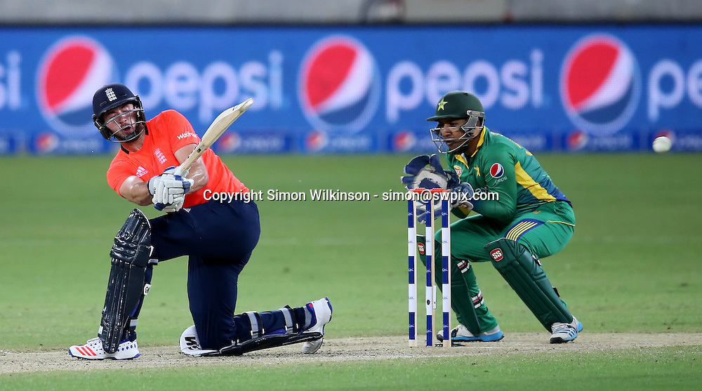 PICTURE BY MARK GREEN/SWPIX.COM  Pakistan v England 1st T20, Dubai Internayional Stadium, UAE, 26/11/15 <br /> England's James Vince played well for his 41 before being bowled by Wahab Riaz