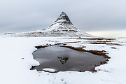 Kirkjufell mountain in West Iceland. Taken in the middle of March.