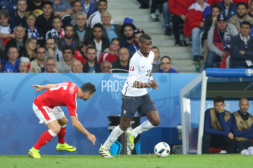 France Midfielder Paul Pogba during the Euro 2016 Group A match between Switzerland and France at Stade Pierre Mauroy, Lille, France on 19 June 2016. Photo by Phil Duncan.