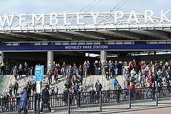 Bristol City fans arrive at Wembley Park - Photo mandatory by-line: Dougie Allward/JMP - Mobile: 07966 386802 - 22/03/2015 - SPORT - Football - London - Wembley Stadium - Bristol City v Walsall - Johnstone Paint Trophy Final