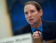"""June 23, 2010 - Washington, District of Columbia, U.S., - Sen. Ron Wyden, (D-Ore.)testifies before the Senate Rules and Administration Committee on """"Examining the Filibuster: Silent Filibusters, Holds and the Senate Confirmation Process."""".(Credit Image: © Pete Marovich/ZUMA Press)"""
