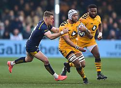 Nizaam Carr of Wasps  - Mandatory by-line: Alex James/JMP - 25/01/2020 - RUGBY - Sixways Stadium - Worcester, England - Worcester Warriors v Wasps - Gallagher Premiership Rugby