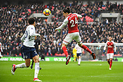 Arsenal Defender Hector Bellerin (24) in action during the Premier League match between Tottenham Hotspur and Arsenal at Wembley Stadium, London, England on 10 February 2018. Picture by Stephen Wright.