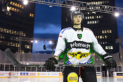 Jure Sotlar at first practice before Ice Fest 2014 on Repulic Square for Winter Classic of HDD Telemach Olimpija called Pivovarna Union Ice Fest 2014, on December 15, 2014 on Republic Square, Ljubljana, Slovenia. (Photo By Matic Klansek Velej / Sportida.com)