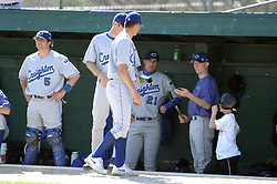 Creighton bench looks over broken aluminum bat