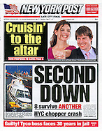 New York Post - June 18, 2005 - Cover Photo of Katie Holmes and Tom Cruise by Tony Barson (5255085).WireImage Entertainment Covers.Various Locations.Various Locations, Various Locations Various Locations.October 13, 2002.Photo by Tony Barson/WireImage.com..To license this image (5269366), contact WireImage:.+1 212-686-8900 (tel).+1 212-686-8901 (fax).info@wireimage.com (e-mail).www.wireimage.com (web site)
