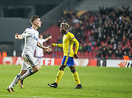 FOOTBALL: Benjamin Verbič (FC København) celebrates after scoring the second goal during the UEFA Europa League Group F match between FC København and FC Zlin at Parken Stadium, Copenhagen, Denmark on November 2, 2017. Photo: Claus Birch