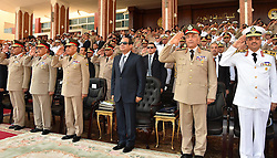 22.07.2015, Kairo, EGY, Leistungsschau und Angelobung mit Al Sisi, im Bild Ägyptens Präsident Abdel Fattah al-Sisi bei einer Leistungsschau und Angelobung seiner Streitkräfte // Egyptian President Abdel Fattah al-Sisi attends a graduation ceremony of the Navy and Air Force academies, Egypt on 2015/07/22. EXPA Pictures © 2015, PhotoCredit: EXPA/ #OK#Ägyptens Präsident Abdel Fattah al Sisi bei einer Leistungsschau und Angelobung seiner Streitkräfte/ Egyptian Presidency<br /> <br /> *****ATTENTION - for AUT, GER, SUI, ITA, POL, CRO, SRB only*****