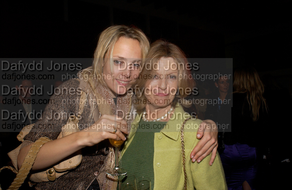 Bay Garnett and her mother Polly Devlin, Party hosted by Alexandra Shulman, Rupert Hambro and Prof  Jack Lohman to open 'The London Look, Fashion from Street to Catwalk', Museum of London. ONE TIME USE ONLY - DO NOT ARCHIVE  © Copyright Photograph by Dafydd Jones 66 Stockwell Park Rd. London SW9 0DA Tel 020 7733 0108 www.dafjones.com