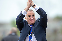 Cove Rangers manager John Shearin near the end. Cove Rangers have become the SPFL's newest side and ended Berwick Rangers' 68-year stay in Scotland's senior leagues by earning a League Two place. Berwick Rangers 0 v 3 Cove Rangers, League Two Play-Off Second Leg played 18/5/2019 at Berwick Rangers Stadium Shielfield Park.