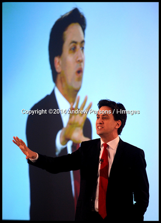 The Leader of the Labour Party Ed Miliband speaks at the Labour Party Labour Party Special Conference held at the Excel Centre . London, United Kingdom. Saturday, 1st March 2014. Picture by Andrew Parsons / i-Images