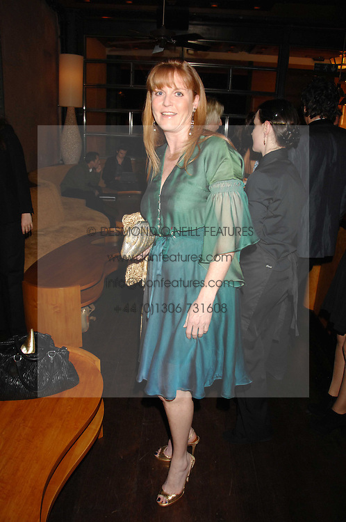 SARAH, DUCHESS OF YORK at a party to celebrate the launch of Cavalli Selection - the first ever wine from Casa Cavalli, held at 17 Berkeley Street, London W1 on 29th May 2008.<br />