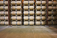 Wine barrels in storage Santa Maria California