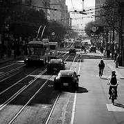 Market Street in San Francisco, CA.