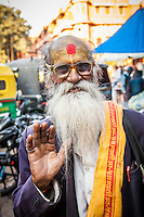 A yogi or holy man in a market in Jaipur, Rajasthan, India. Possibly a Sadhu