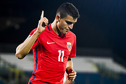 October 5, 2017 - San Marino, SAN MARINO - 171005 Mohamed Elyounoussi of Norway celebrates 6-0 during the FIFA World Cup Qualifier match between San Marino and Norway on October 5, 2017 in San Marino. .Photo: Fredrik Varfjell / BILDBYRN / kod FV / 150027 (Credit Image: © Fredrik Varfjell/Bildbyran via ZUMA Wire)