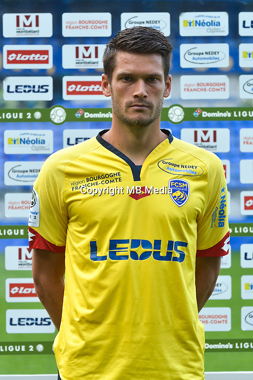 Johann Ramare of Sochaux during the FC Sochaux photocall for the season 2016/2017 in Sochaux on September 20th 2016<br /> Photo : Philippe Le Brech / Icon Sport