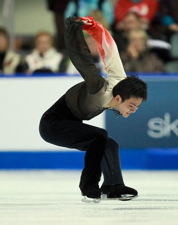 20101030 -- Kingston, Ontario -- Yasuharu Nanri of Japan skates his free skate at Skate Canada International in Kingston, Ontario, Canada, October 30, 2010. <br /> AFP PHOTO/Geoff Robins