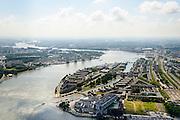 Nederland, Zuid-Holland, Rotterdam, 10-06-2015; eiland Feijenoord in de bocht van de Nieuwe Maas, door Nassauhaven en Persoonshaven gescheiden van de rest van Rotterdam-Zuid. Hoofdkantoor Unilever in de voorgrond.<br /> Rotterdam Feijenoord, named after the island.<br /> luchtfoto (toeslag op standard tarieven);<br /> aerial photo (additional fee required);<br /> copyright foto/photo Siebe Swart