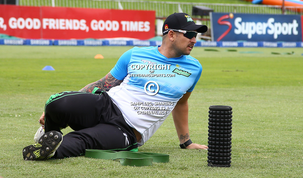 Cameron Delport of Hollywoodbets Dolphins during the Hollywoodbets Dolphins and Warriors T20 T20 Challenge.Sahara Stadium, Kingsmead Durban, South Africa.13 November 2016 - (Photo by Steve Haag)
