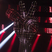 NLD/Hilversum/20180209 - 3e Liveshows The voice of Holland 2018, hand logo