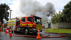 Auckland-Fire crews respond to 4th alarm fire in Onehunga warehouse