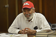 12/11/14 Monticello MS- Civil rights icon James Meredith speaks at the Lawrence County Public Library in Monticello MS. His message is about education and the cornerstone for the foundation for s successful human being is the 10 commandments and grandparents to instill early life lessons to their grandchildren. Photo © Suzi Altman