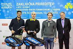 Nikola Maljkovic, Ziga Ham Kacin, Miha Rakar and Marko Umberger at Istenic doubles Tournament and Slovenian Tennis personality of the year 2015 annual awards presented by Slovene Tennis Association TZS, on December 12, 2015 in Millenium Centre, BTC, Ljubljana, Slovenia. Photo by Vid Ponikvar / Sportida