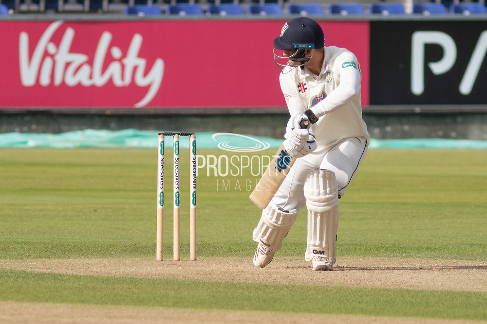 Jack Burnham batting during the Specsavers County Champ Div 2 match between Durham County Cricket Club and Leicestershire County Cricket Club at the Emirates Durham ICG Ground, Chester-le-Street, United Kingdom on 18 August 2019.