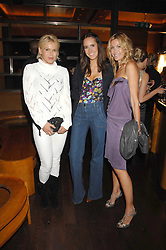 Left to right, DIANA JENKINS, LOUISE ROE and MELISSA ODABASH at a party to celebrate the launch of Cavalli Selection - the first ever wine from Casa Cavalli, held at 17 Berkeley Street, London W1 on 29th May 2008.<br /><br />NON EXCLUSIVE - WORLD RIGHTS