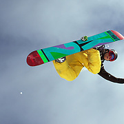 Justin Lamoureux, Canada, in action during the Men's Half Pipe Qualification in the LG Snowboard FIS World Cup, during the Winter Games at Cardrona, Wanaka, New Zealand, 27th August 2011. Photo Tim Clayton...