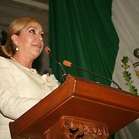 Toluca, México.- Ana María Balderas Trejo, diputada panista, presidirá la Mesa Directiva del cuarto periodo ordinario de sesiones de la LVIII Legislatura Local.  Agencia MVT / José Hernández